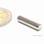 Aimants Néodyme cylindre D5 x 20 mm. Nickel-Cuivre-nickel. (Ni-Cu-Ni)